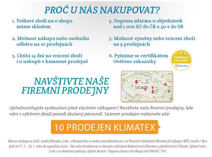 Seznam prodejen Klimatex